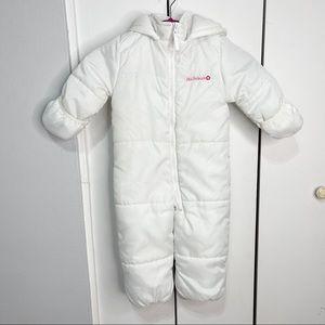 Snow suit pink platinum Size 24M.